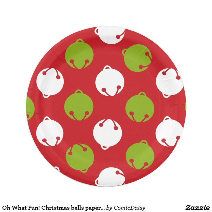 Oh What Fun! Christmas bells paper plates | Zazzle.com | Bell paper, Christmas paper plates ...