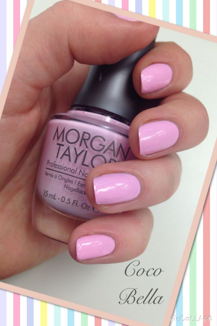 Morgan Taylor. Pink Nails.