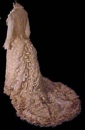 Victorian wedding dress, view 1
