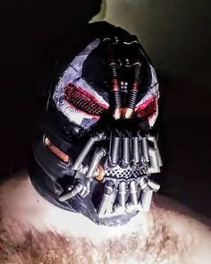 """As the child did...without the rope. And fear will find you again."" #bane #costume #cosplay #batmanbegins #batman #batmanvillains #dccomics #makeupartist #masks #arkham #arkhamknight #arkhamasylum #shurr #villain #halloweenmasks #Halloween #maskmaking #comic #comicvillain #supervillain #nightmare #moresevere #cosplay #cosplayersofinstagram #masks #banemask #costumes #theatremasks #sexybeast #darkknight #darkknightrises #rise"