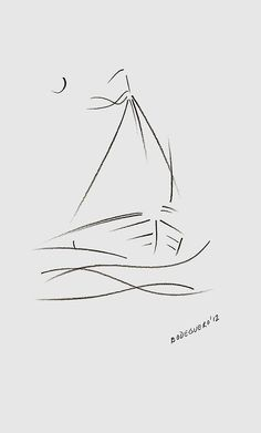 A simplistic drawing of a sailboat, pretty cool what you can do with so little lines