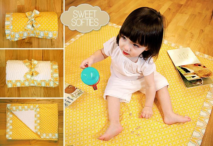 Play mat for baby!  I think I will try this with a water proof back for days at the park so the damp ground doesn't soak into her blankets.