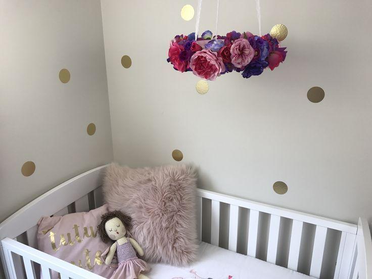 Floral Nursery Chandelier Purple Pink Baby Nursery Nursery Decor Baby Shower Bir Nursery Chandelier Nursery Decor