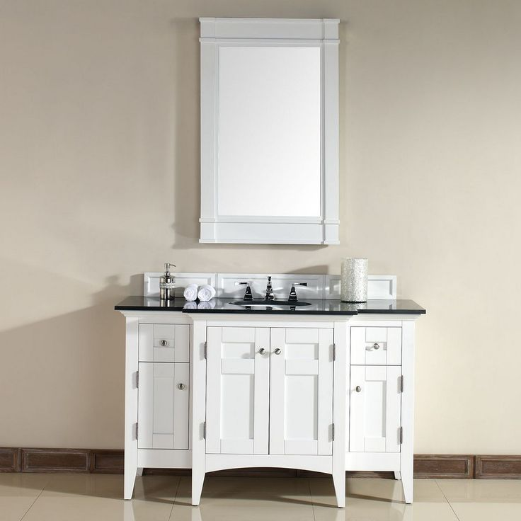 North Hampton 53 Traditional Single Sink Bathroom Vanity In Pure White By James Martin Model