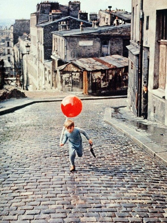 Pascal Lamorisse in The Red Balloon (1956, dir. Albert Lamorisse)