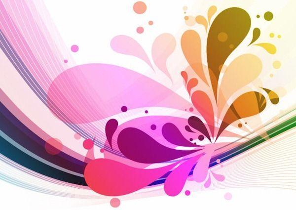 abstract floral design vector art patterns pinterest