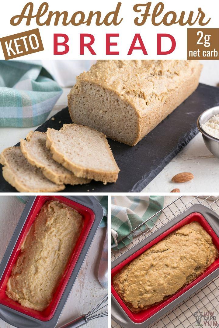Easy Almond Flour Bread Keto Low Carb In 2020 Keto Almond Bread Almond Flour Bread Keto Dessert Recipes