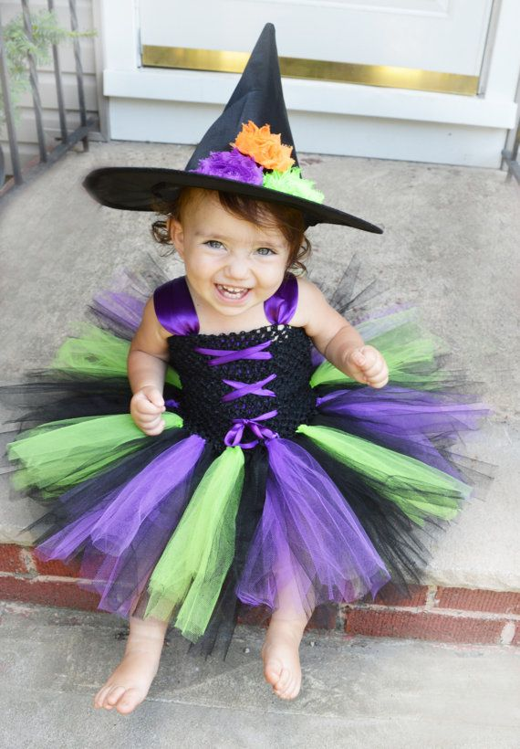 Little Witch Costume Witch Tutu Costume Baby by HarperRoseBoutique