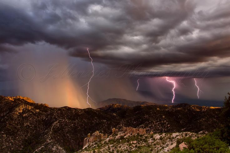 Been a while since i posted something on here so here is a nice sunset storm for you all from the top of Mt. Lemon near Tucson, AZ August 3rd 2015. Was amazing to see and hear the storm from such a stunning viewpoint. — with Stephanie Michelle.
