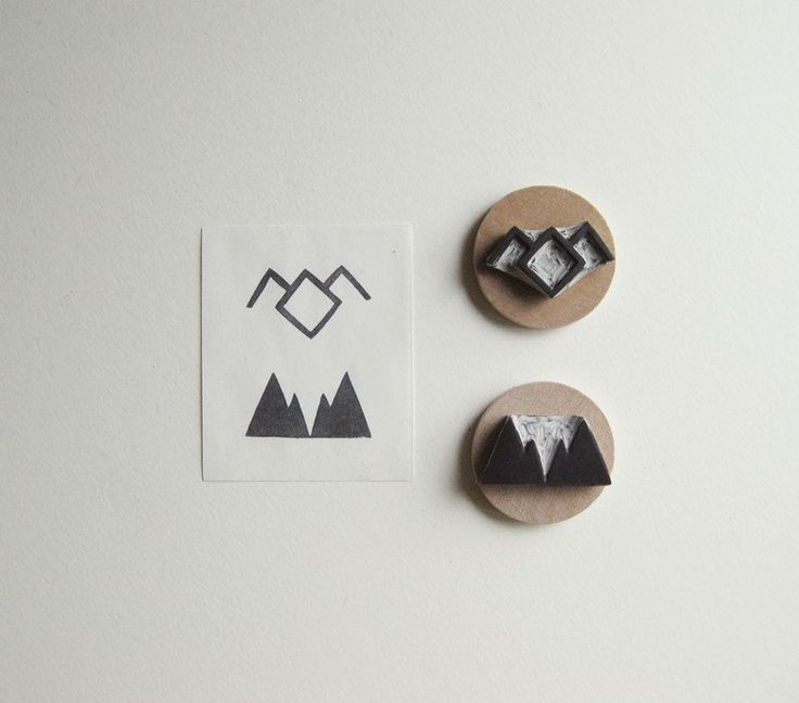 NEW Twin Peaks Symbols Set of Two Hand Carved Rubber Stamps. $14.00, via Etsy.
