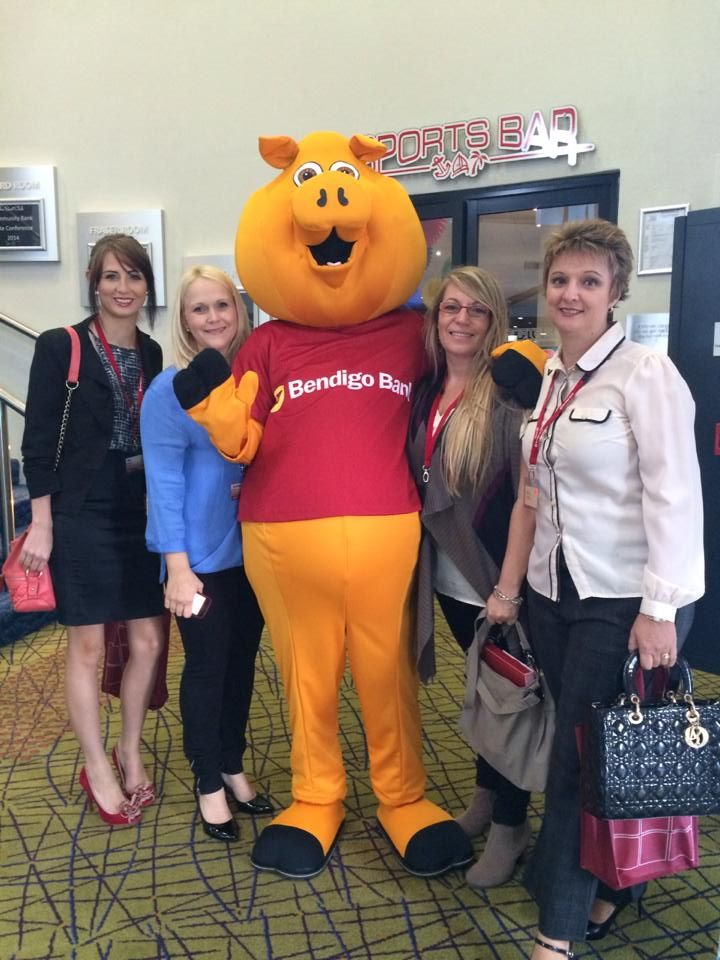 Piggy even joined everyone in Hervey Bay this week for our State Community Bank Conference!