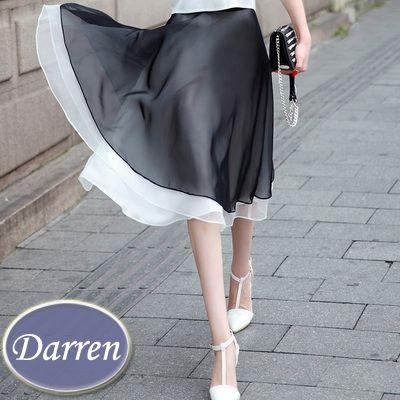 Купить товарНовый стиль лето элегантный шифоновая юбка в складку черный цвет мода дамы органзы высокая талия юбки Большой размер XXL в категории Юбкина AliExpress.          Счастливой покупки, счастливой жизни.                                Размер внимание