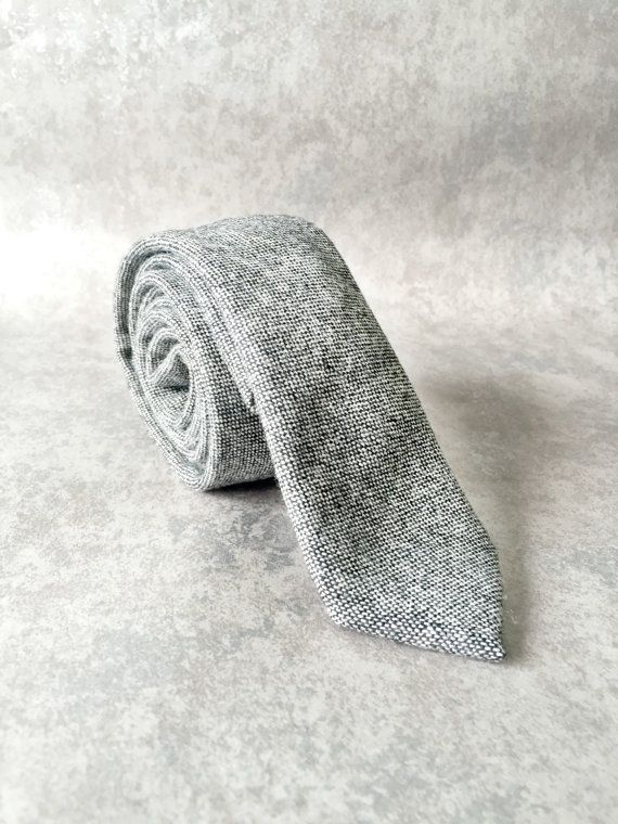 Sherwin Williams Grey Wool Skinny Tie  Dapper by BowsnSquares