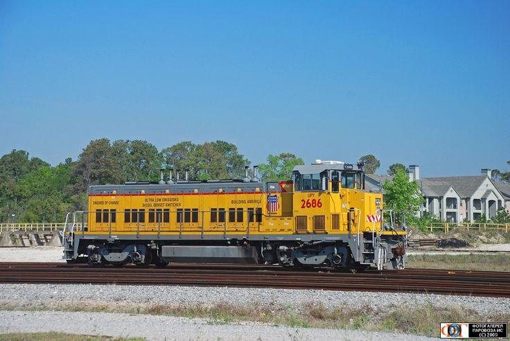 Тепловоз RP20GE-2686 компании UPY. Хьюстон (Houston), США