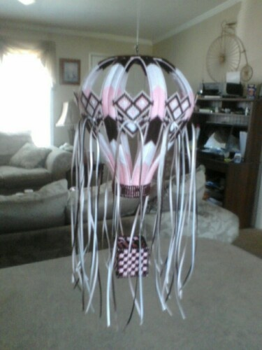 One of the Hot Air Balloons I have made out of plastic canvas