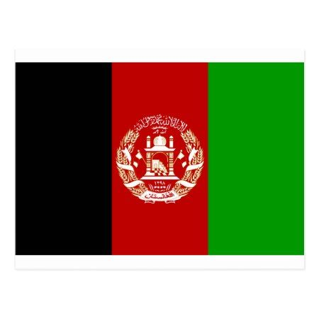 Afghanistan Flag Postcard - tap to personalize and get yours