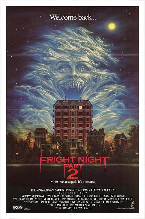 Fright Night 2, very cool different cover..similar to the first films cover, except this one is the college dorm