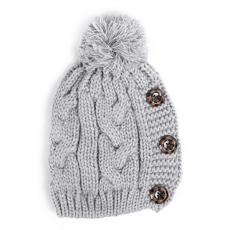 Autumn/Winter 2014 | FULLAHSUGAH PLAIT KNITTED BUTTON BEANIE | €7.90 | 4404100222 | http://fullahsugah.gr