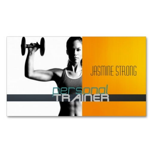 Personal Trainer, Fitness, Women, Lady, Gym Business Card