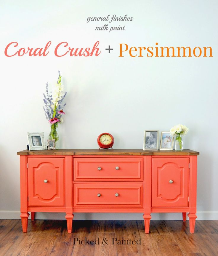 Picked & Painted: Coral Crush + Persimmon   Coffee table project