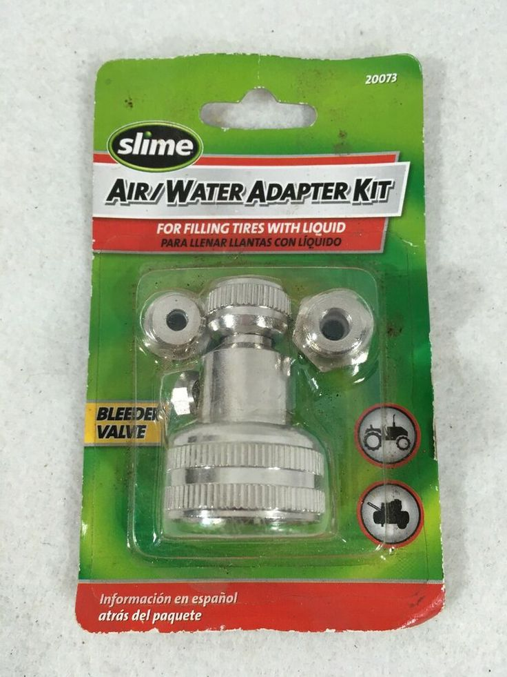 Slime 20073 Air Water Adapter Kit Fill Tires with Liquids