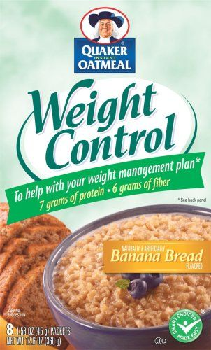 Quaker Instant Oatmeal Weight Control Banana Bread - http://bhealthydiet.com/quaker-instant-oatmeal-weight-control-banana-bread/