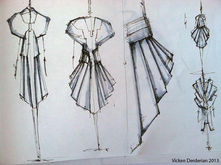 Fashion Sketches - fashion sketchbook; fashion design drawings // Vicken Derderian
