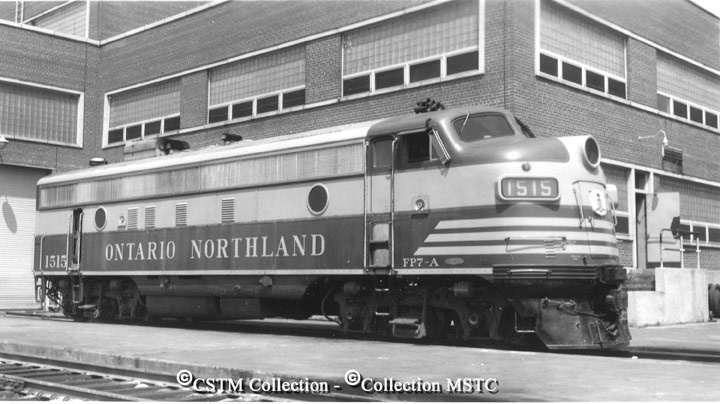 Location:  North Bay, ON  Railway Name:  ONTARIO NORTHLAND RAILWAY  Date:  1953-08-00