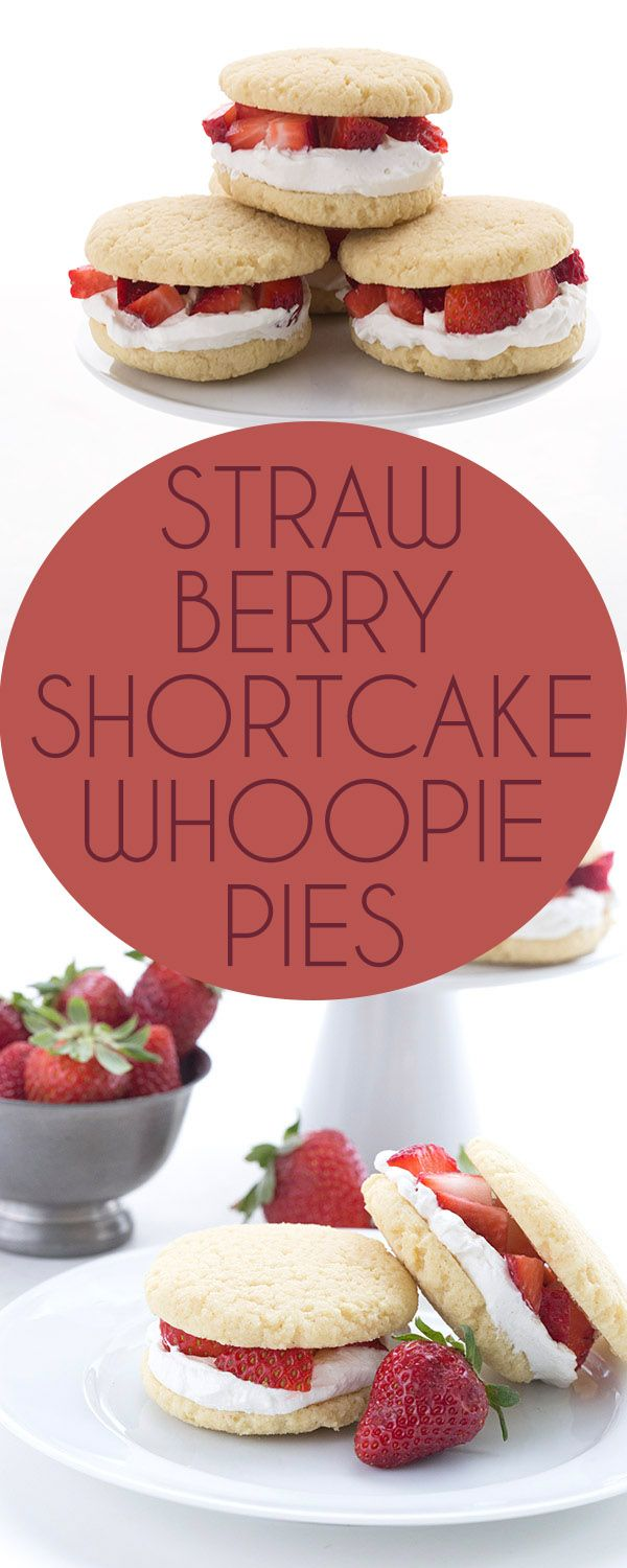 Delicious low carb almond flour cookies with sugar-free whipped cream and berries. These keto whoopie pies taste just like Strawberry Shortcake! LCHF Banting THM recipe.  via @dreamaboutfood