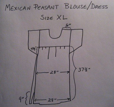 Another Mexican Peasant Blouse/Dress - /cottageatheart/sewing-repurposed-and-upcycled/     over 500