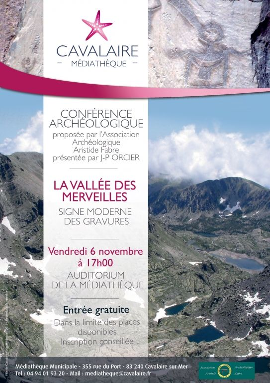 Conférence archéologique « La Vallée des Merveilles, signe moderne des gravures », Cavalaire-sur-Mer (83240), Provence-Alpes-Côte d'Azur