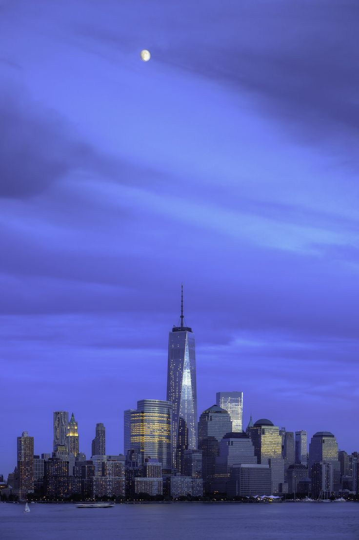 Moon Over Manhattan centered on the