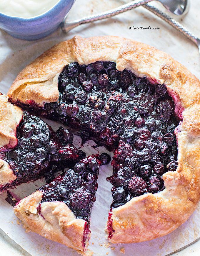 Rustic Berry Tart with Vanilla Custard