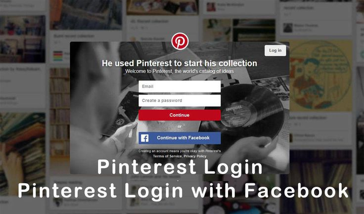 If you are familiar with Pinterest login interface you should there are two login options. The first one is where can enter his or her email and