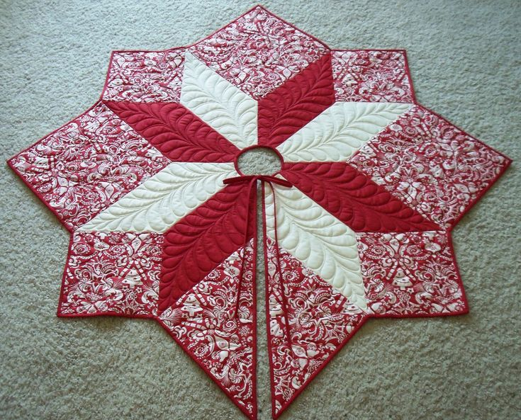 Quilted Red Tree Skirt