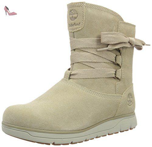 Timberland  Leighland_Leighland_Leighland Pull On WP, Bottes mi-hauteur avec doublure chaude femme - Beige - Beige (Nomad silk Suede), 37.5 - Chaussures timberland (*Partner-Link)