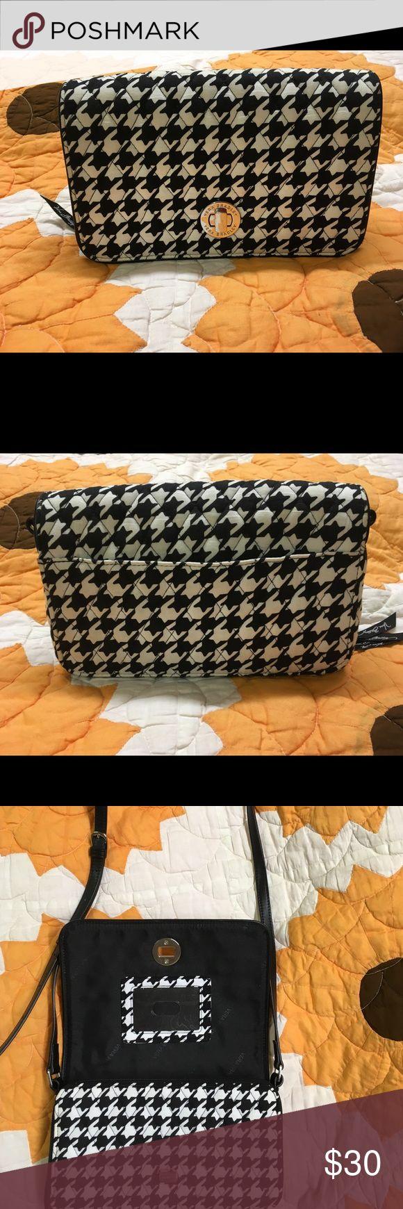 Vera Bradley handbag Turn lock snap, crossbody handbag with quilted houndstooth design; purchased from the Vera Bradley store Vera Bradley Bags Crossbody Bags