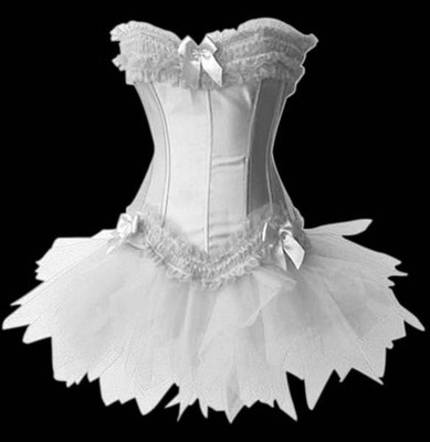 looks like an angelic moulin rouge can can dancers outfit.  hubby like??  :-)