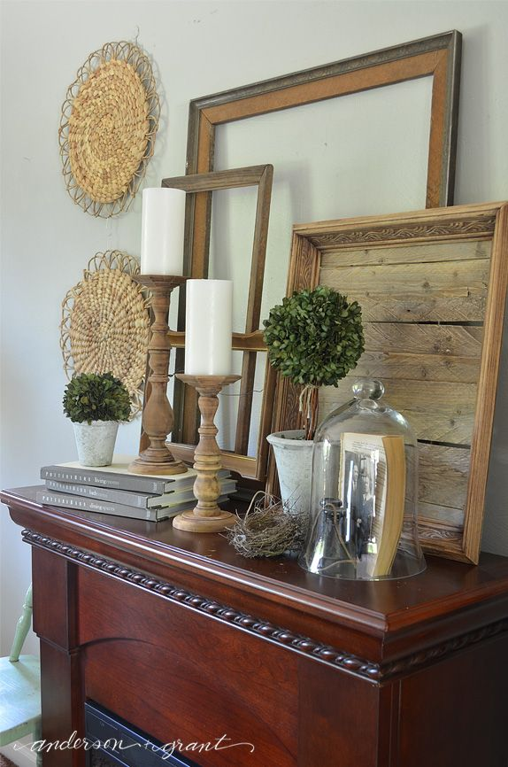 Tips and tricks for decorating a summer mantel.  |  anderson + grant