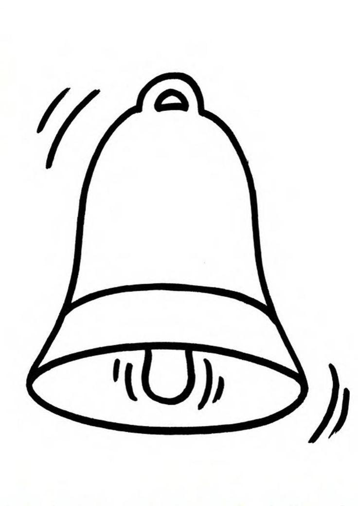 Рисунок колокольчика на последний звонок шаблон