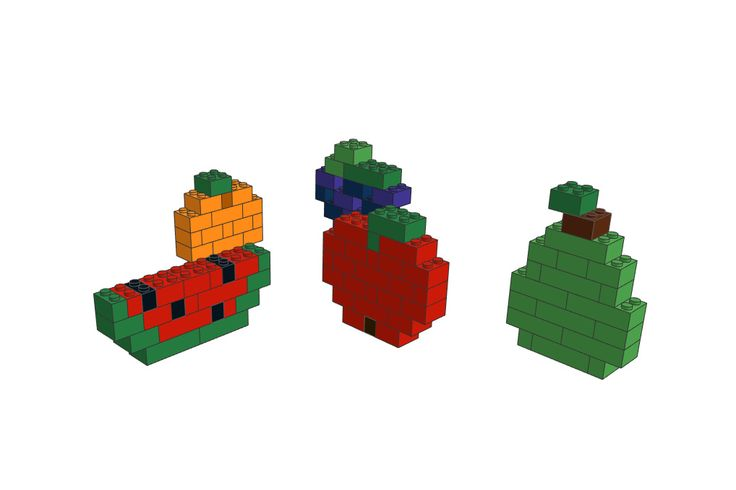 LEGO Fruits Instruction Books. Download them on our website!