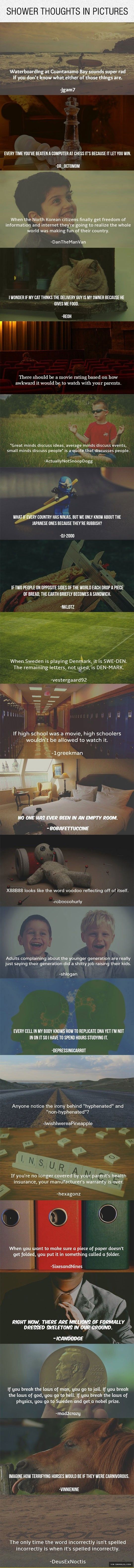 Mind-Bending Shower Thoughts In Pictures - The Best Funny Pictures