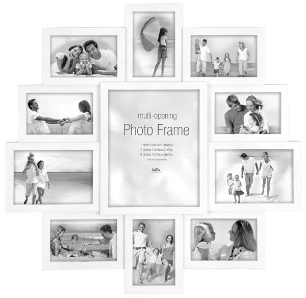 Maggiore XXI Multi Photo Frame Photo Frame in white surrounding one larger aperture