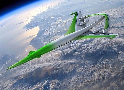 Sydney to London in 4 hours - yes!!   One of Lockheed Martin's designs for a supersonic aircraft that could travel over land with reduced sonic booms.
