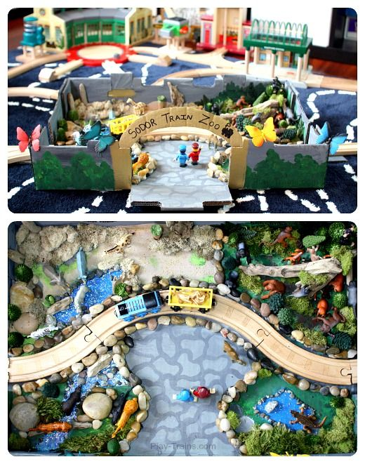 "Small world zoo to go with the train set - from Play Trains ("",)"