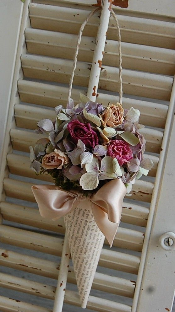 Dried Flowers in Paper Cone
