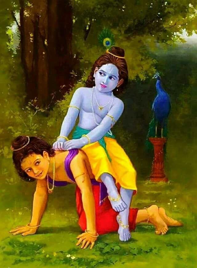 Playful krishna