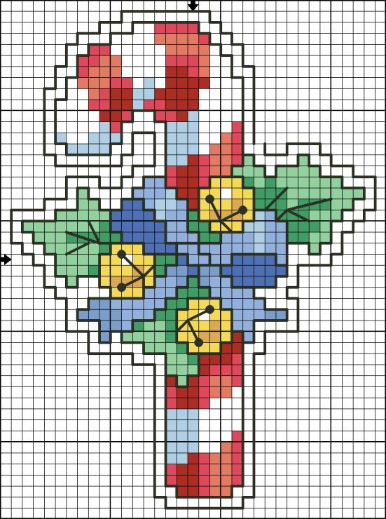 Christmas candy cane perler bead pattern