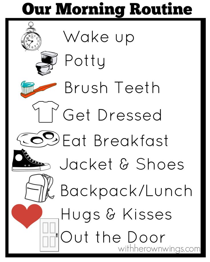 morning routine chart