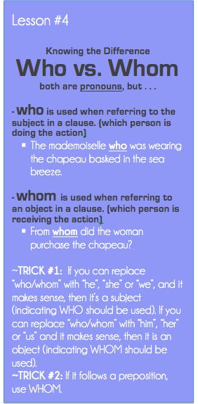 Who vs. Whom -           Repinned by Chesapeake College Adult Education Program. Learn and improve your English language with our FREE Classes. Call Karen Luceti  410-443-1163  or email kluceti@chesapeake.edu to register for classes.  Eastern Shore of Maryland.  . www.chesapeake.edu/esl.